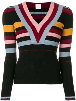 Pinko striped V-neck sweater