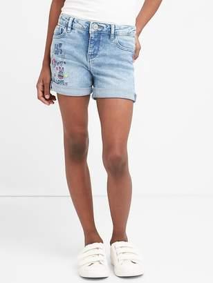 Gap Embroidery Midi Shorts with Fantastiflex