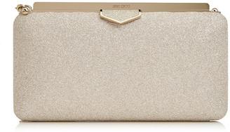 Jimmy Choo ELLIPSE Platinum Ice Dusty Glitter Clutch Bag