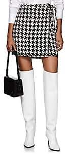 Off-White Women's Logo-Trimmed Houndstooth Wrap Skirt