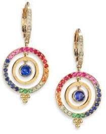 Temple St. Clair Celestial Multicolor Sapphire, Diamond& 18K Yellow Gold Piccolo Tolomeo Drop Earrings