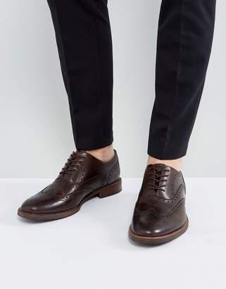 Aldo Bartolello Leather Brogue Shoes In Brown