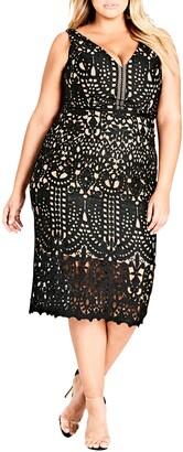 City Chic All Class Lace Sheath Dress