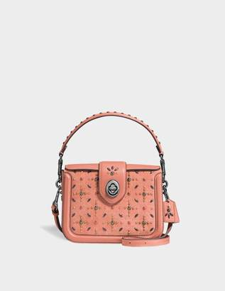 Coach Page Riveted Crossbody Bag in Melon Calfskin