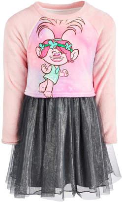 Trolls by DreamWorks Toddler Girls Plush Poppy Layered-Look Dress