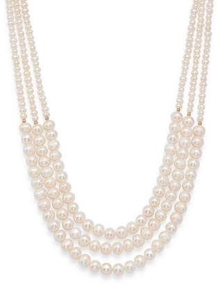 Bloomingdale's Cultured Freshwater Pearl Three-Strand Necklace in 14K Yellow Gold - 100% Exclusive