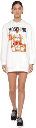 Moschino Hooded Cotton Jersey Mini Dress