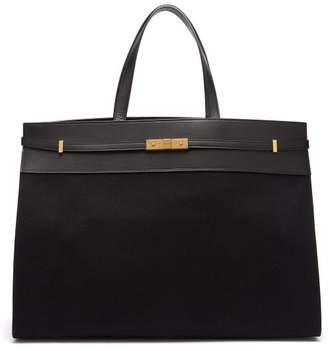 Saint Laurent Manhattan Large Canvas Tote Bag - Womens - Black