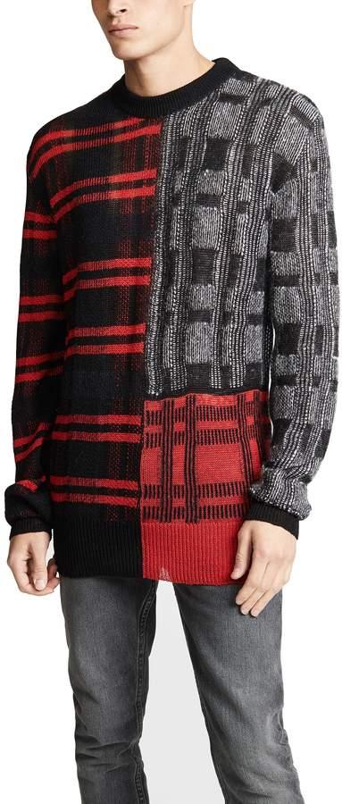 Mcq Alexander Mcqueen McQ - Alexander McQueen Patchwork Check Crewneck Pullover
