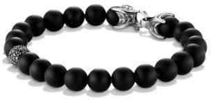 David Yurman Davidyurman Spiritual Beads Bracelet With Black Onyx And Black