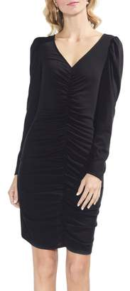 Vince Camuto Puff Shoulder Cinched Body-Con Dress