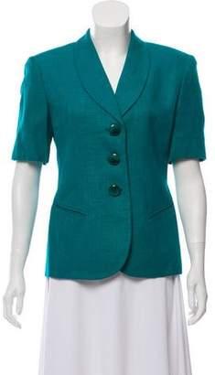Christian Dior Short Sleeve Structured Blazer