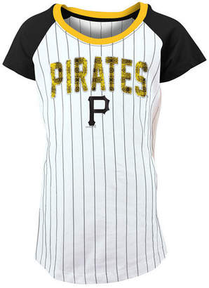 5th & Ocean Pittsburgh Pirates Sequin Pinstripe T-Shirt, Girls (4-16)