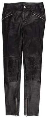 BLK DNM Leather Mid-Rise Pants