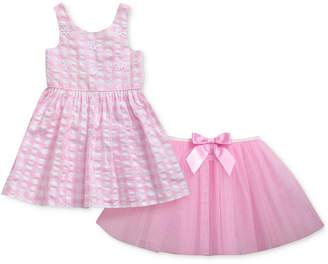Sweet Heart Rose 2-Pc. Seersucker Dress & Mesh Skirt Set, Baby Girls