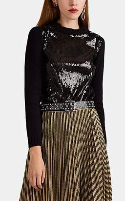 Philosophy di Lorenzo Serafini Women's Sequined Crewneck Sweater - Black