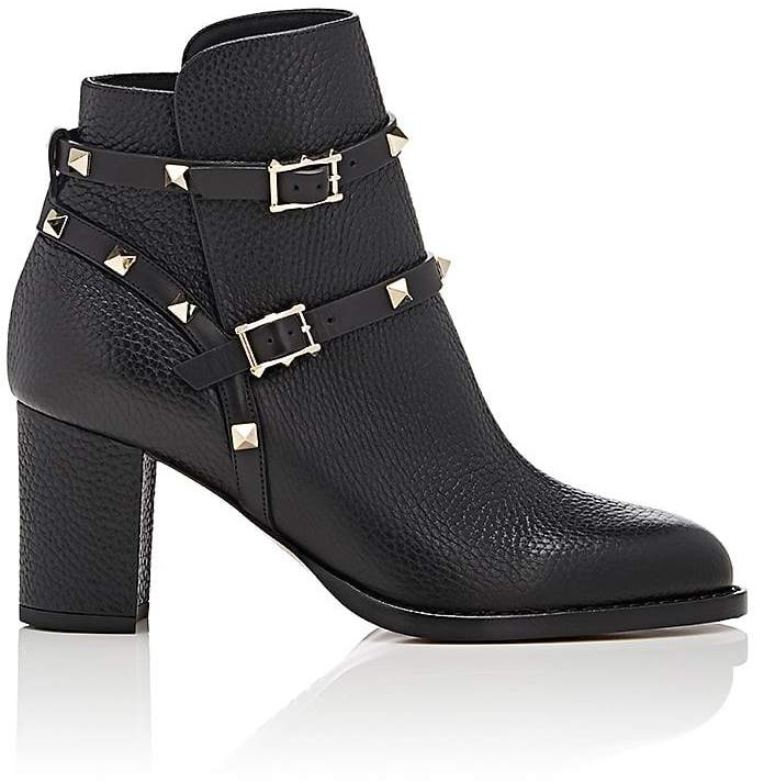Valentino Garavani Women's Rockstud Double-Strap Boots
