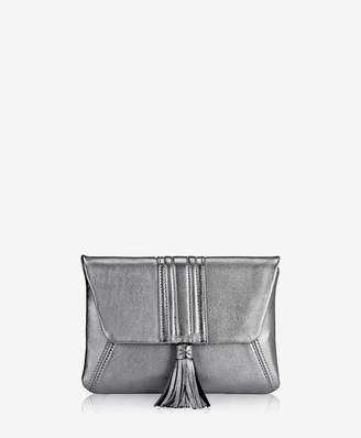 GiGi New York Ava Clutch In Pewter Metallic
