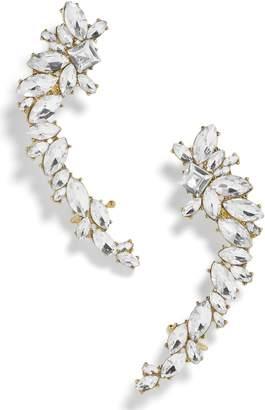 BaubleBar Large Crystal Crawler Earrings