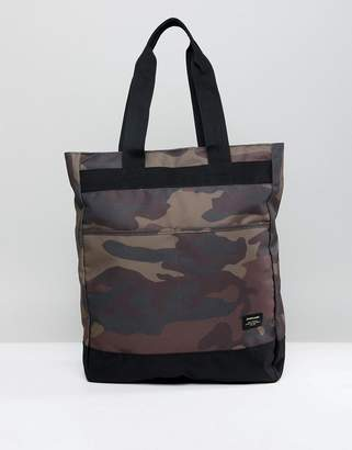 Jack and Jones Camo Tote Backpack