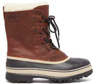 Sorel Caribou Faux Shearling Lined Snow Boots - Mens - Brown