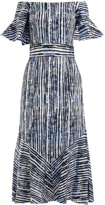 Goat Fantasy batik-striped print cotton-blend dress