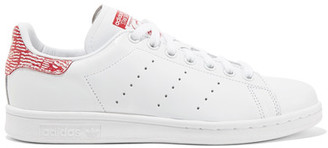 Adidas Originals - Stan Smith Leather Sneakers - White $90 thestylecure.com