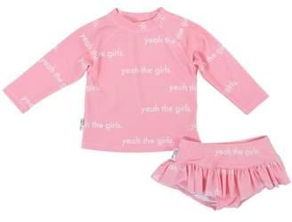 TINY TRIBE Yeah the Girls Rashguard Swim Suit 2-Piece Set (Baby Girls)