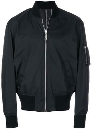 Versus pinstripe bomber jacket