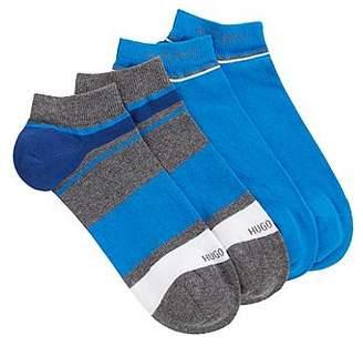 HUGO BOSS Two-pack of striped cotton blend ankle socks
