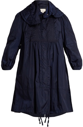 MONCLER Cabannes pleated coat $1,330 thestylecure.com