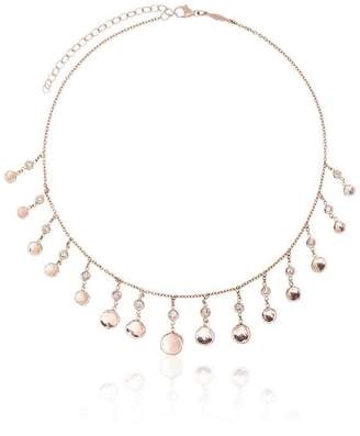 Jacquie Aiche Shaker diamond and 14K rose gold necklace