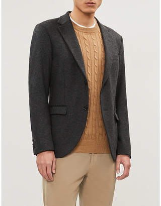 Brunello Cucinelli Cable-knit wool and cashmere-blend jumper