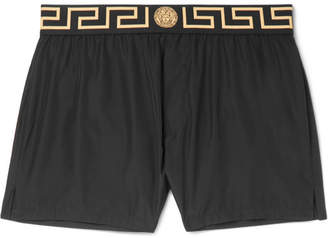 Versace Slim-Fit Short-Length Logo-Trimmed Swim Shorts