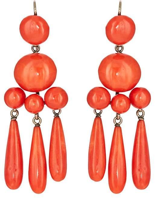 Stephanie Windsor Antiques Women's Coral Chandelier Earrings