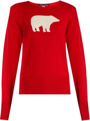 PERFECT MOMENT Bear-intarsia wool sweater