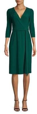 Eliza J Tie-Front Wrap Dress