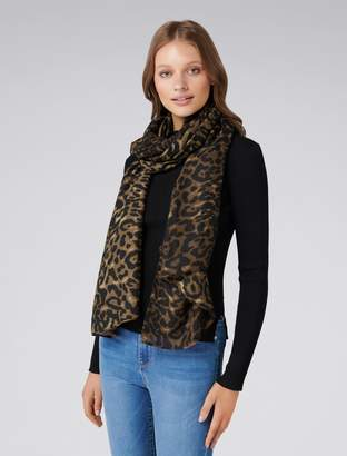 Forever New Jessica Leopard Print Scarf - Brown - 00