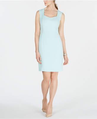Kasper Back-Slit Sheath Dress