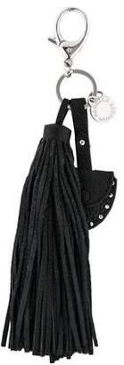 Rebecca Minkoff Leather Tassel Keychain w/ Tags