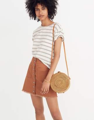 Madewell High-Waist Snap Skirt
