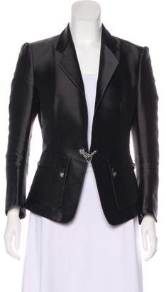 Balenciaga Silk Notch-Lapel Blazer
