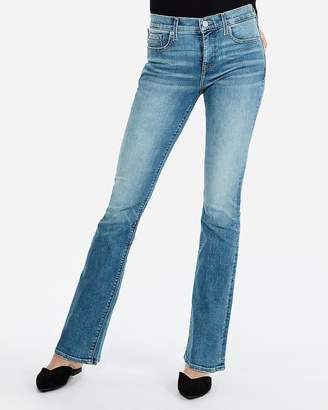 Express Mid Rise Denim Perfect Light Wash Barely Boot Jeans