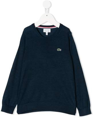 Lacoste Kids logo patch jumper