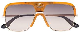 Gucci orange gradient lense aviator sunglasses