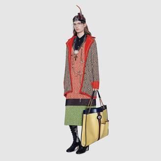 Gucci GG stripe wool skirt