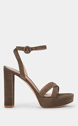 Gianvito Rossi Women's Poppy Suede Platform Sandals - Beige, Tan