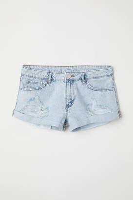 H&M Denim Shorts Girlfriend Low - Blue