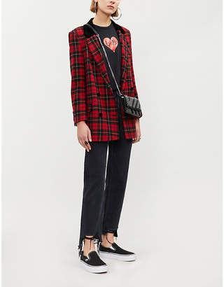 The Kooples Tartan wool-blend jacket