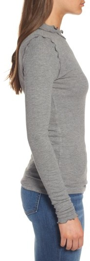 Women's Hinge Long Sleeve Ruffle Tee 2